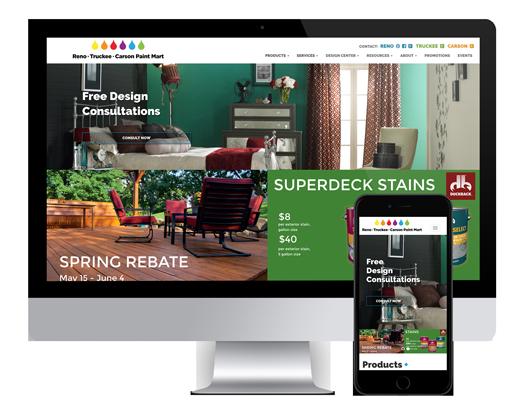 Reno Paint Mart >> Reno Website Design Portfolio By Ocg Creative